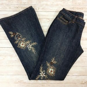 Ted Baker UK  'Jennies' Beaded Low Rise Flare Jean